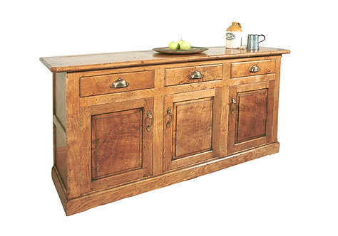 TL953 Chamfered sideboard with 3 cupboards and 3 drawers