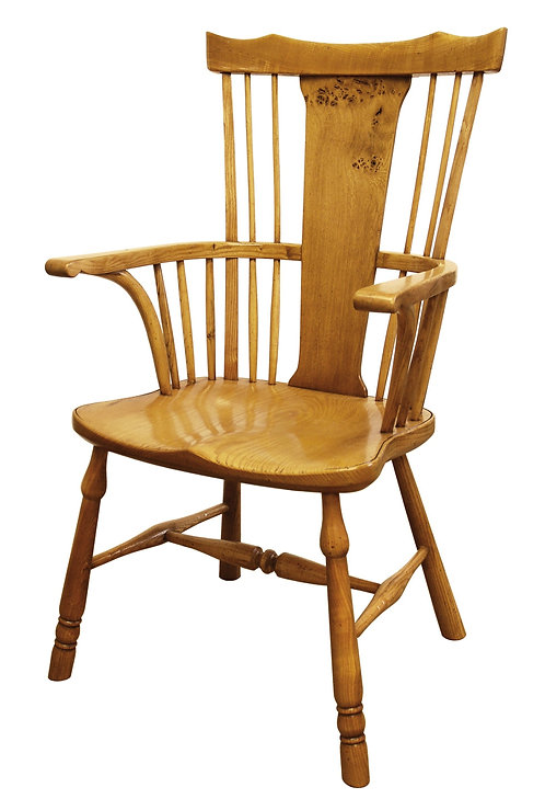 BC80 Yeoman's armchair with Pippy Oak splat