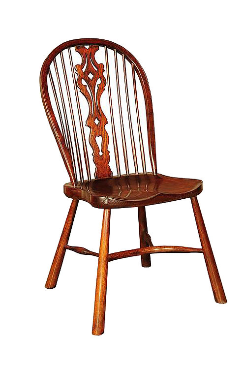 BC54RLCL Large Georgian sidechair with revival style legs