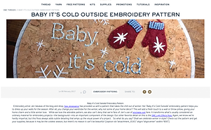 DMC Blog Post Cold Outside Embroidery.pn