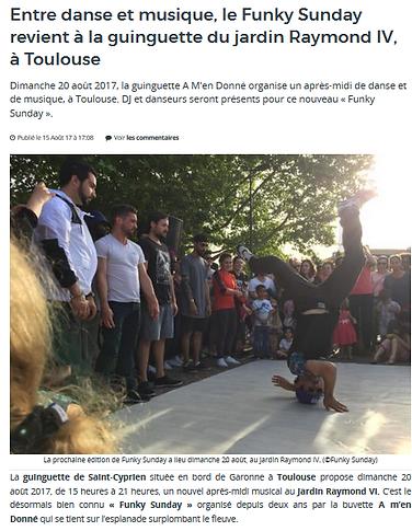 Intervention en danse Hip-Hop au Jardin raymond VI pour les Funky Sunday