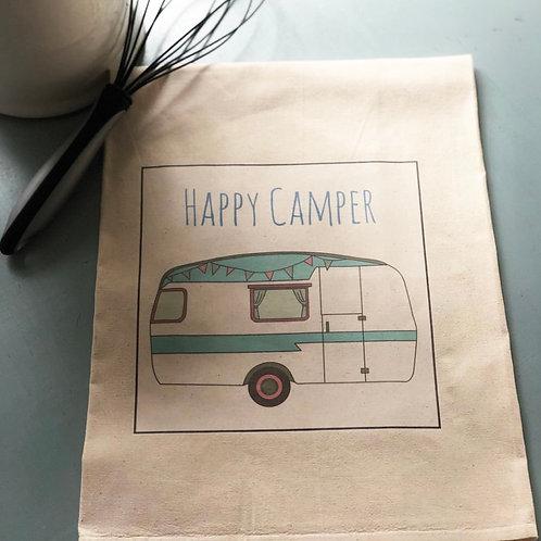 Happy Camper Tea Towel