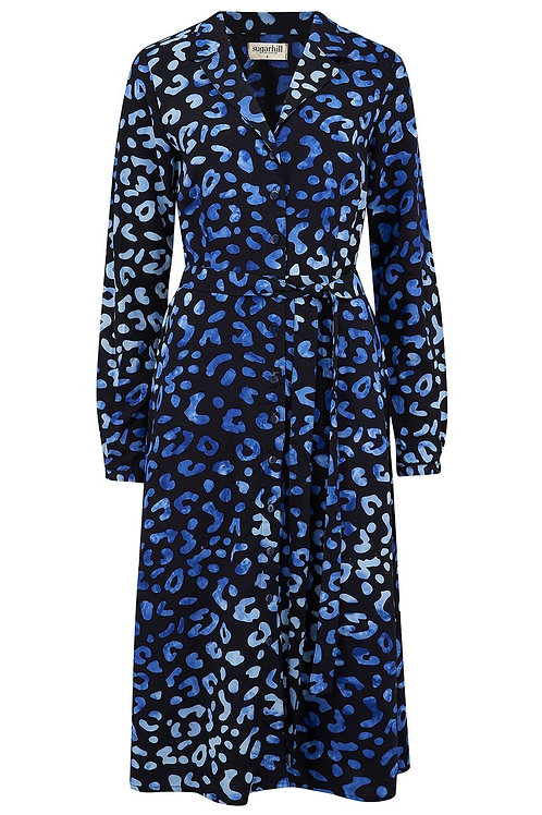 GERRY LEOPARD PRINT BATIK SHIRT DRESS