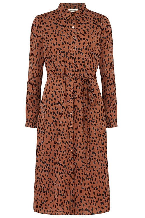 BRITNEY ANIMAL SPOT SHIRT DRESS