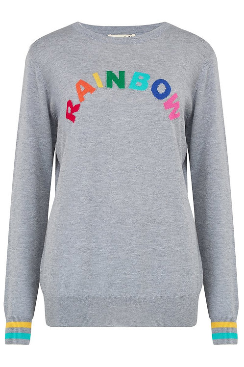 VELMA SPELL IT OUT RAINBOW SWEATER
