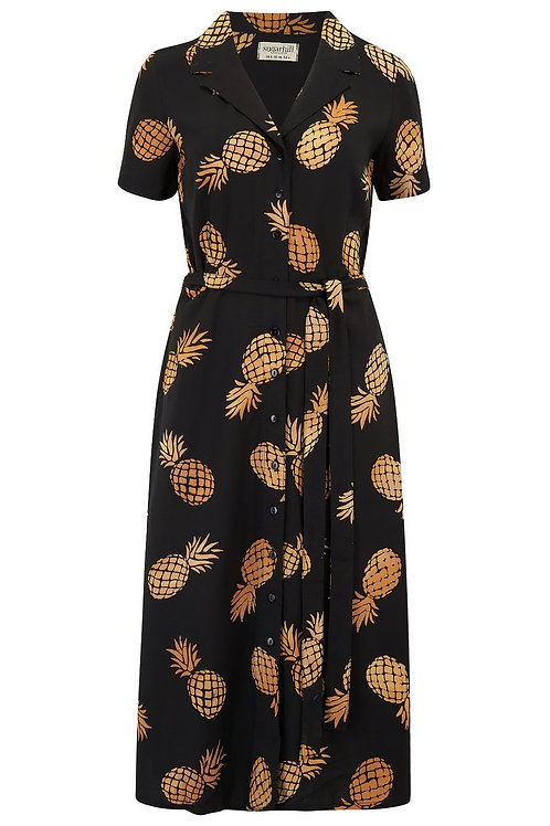 KENDRA PINEAPPLE BATIK SHIRT DRESS