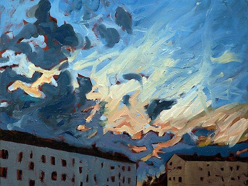 Solnedgång över Kålltorp