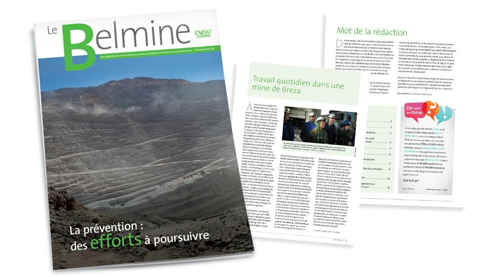 CNESST Le Belmine CNESST prévention au travail - Merle Blanc