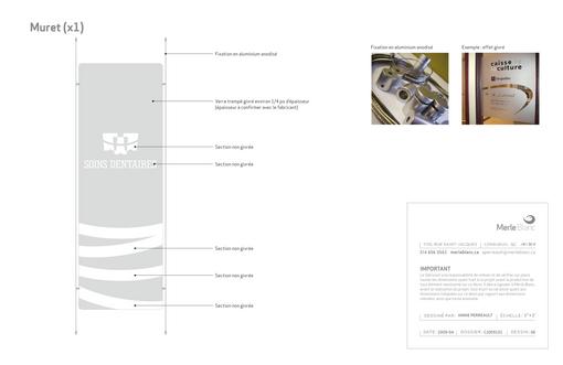 Enseigne - signalisation - SOINS DENTAIRES CAROLINE JODOIN & COMPLICES -  Merle Blanc