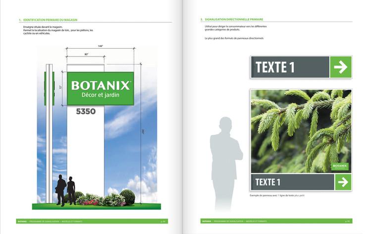 Botanix Programme de signalisation intérieure et extérieure - Merle Blanc
