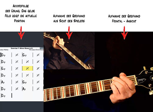 Jazz Chord Base - Begleiten von Jazz für Gitarre