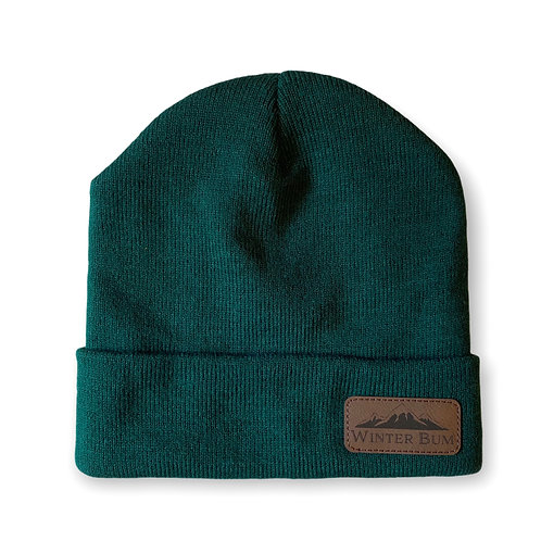 """Adult Leather Patch """"Winter Bum"""" Beanie"""