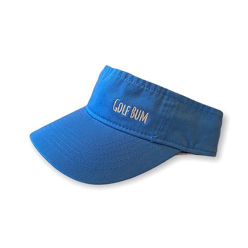 """""""Golf Bum"""" Catalina Blue Visor"""