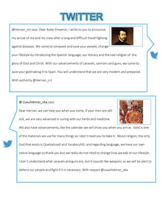 Tweet encounter of two worlds