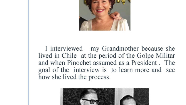 Interview to a family member