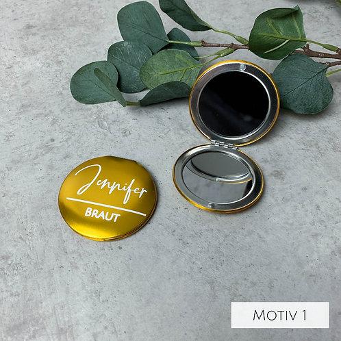 Kosmetikspiegel Personalisiert mit verschiedenen Motiven