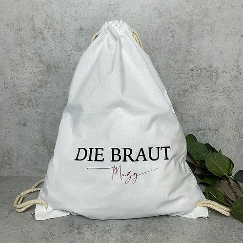 """Turnbeutel """"Die Braut"""" Personalisiert"""