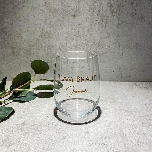 BRAUT/ TEAM BRAUT Aufkleber für Gläser Personalisiert