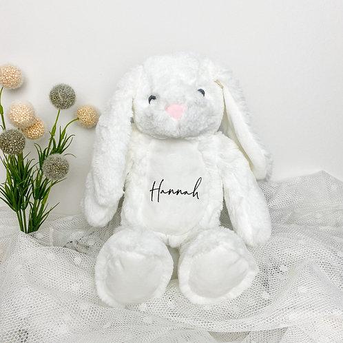 Kuscheltier Hase Weiß Personalisiert mit Name