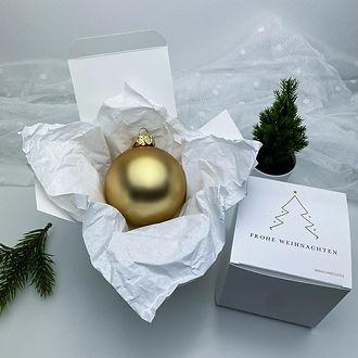 Personalisierte Weihnachtskugel mit Geschenkkarton