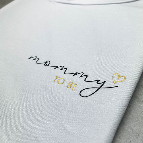 """T-Shirt """"mommy to be"""" Mehrfarbig Klein"""