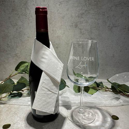 WINE LOVER Aufkleber für Gläser Personalisiert