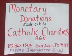 Where to send monetary donations
