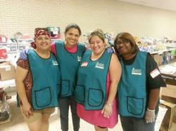 Delia Garcia and volunteers