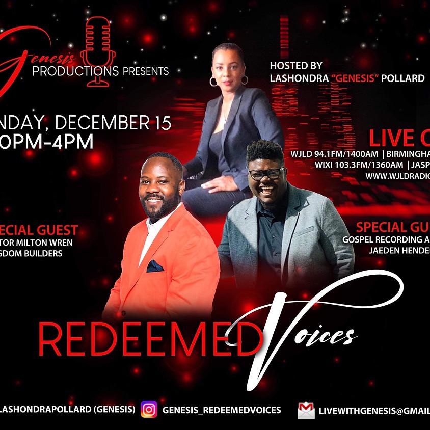 Jaeden Henderson Live on Redeemed Voices Radio Show