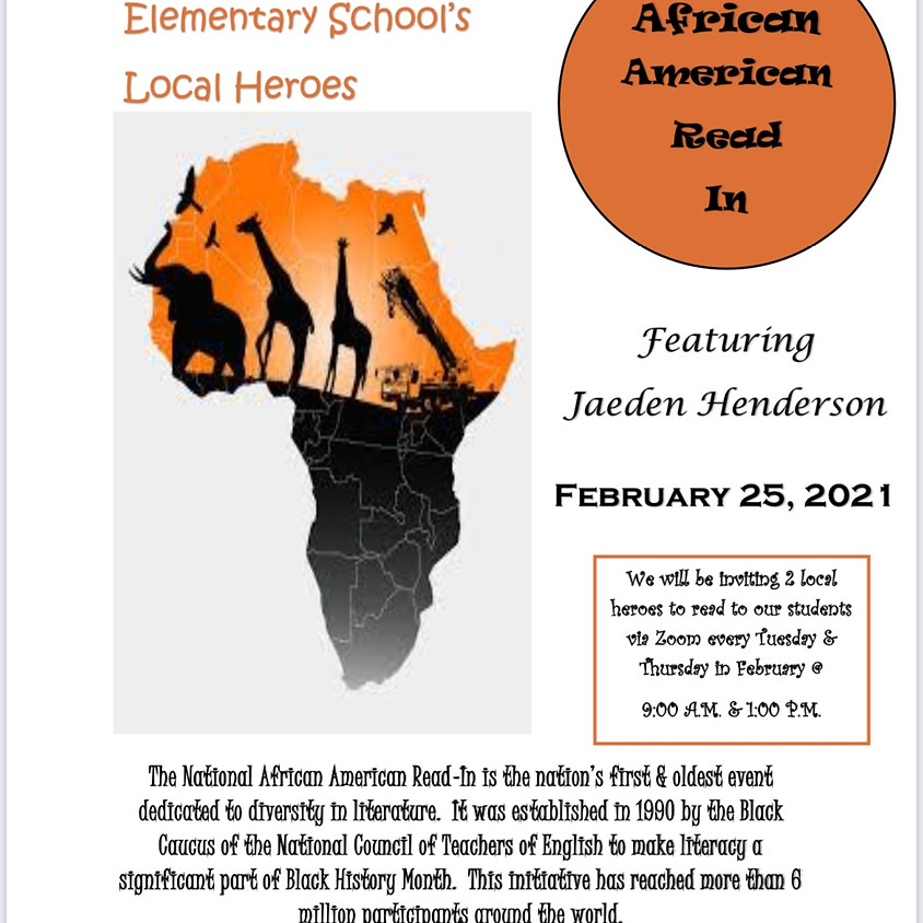 African American Read-In at Abrams Elementary School