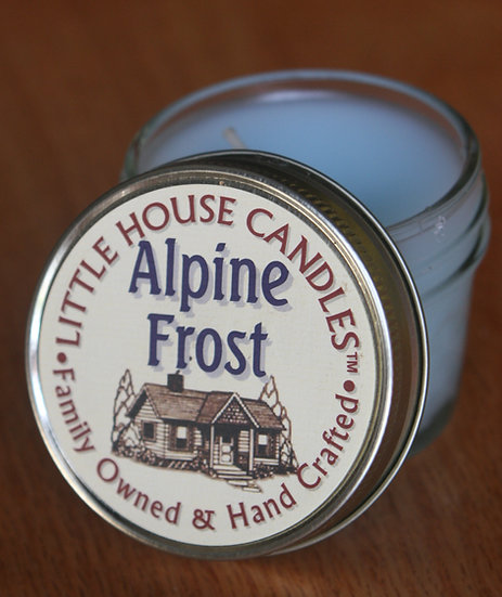 Alpine Frost 3 Oz. Jelly Jar - Little House Candles