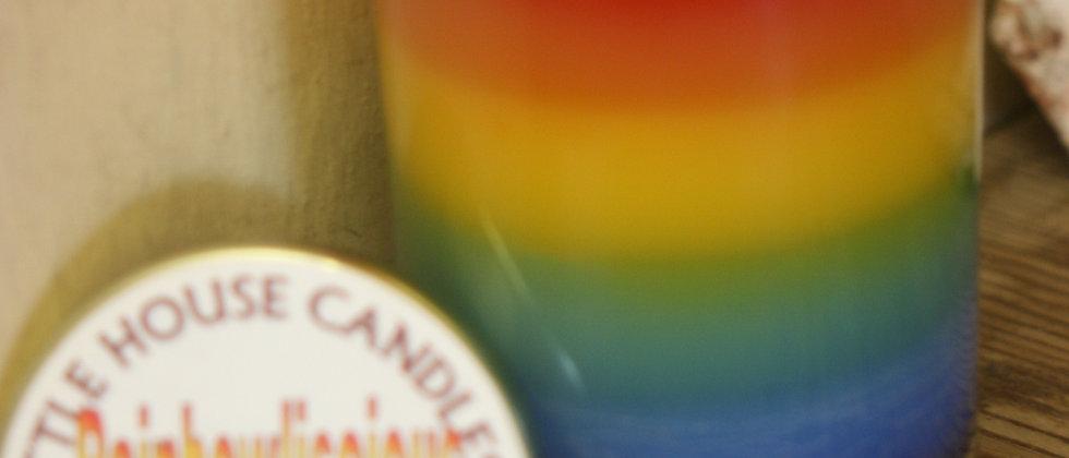Rainbowliscious 13 Oz. Layered Candle