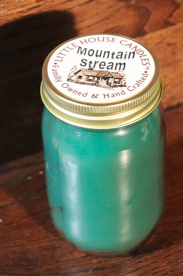 Mountain Stream - 14Oz Pint Mason Jar