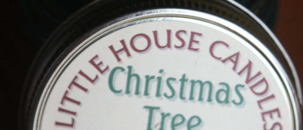 Christmas Tree - 3 Oz. Little House  Quilted Jelly Jar Candle