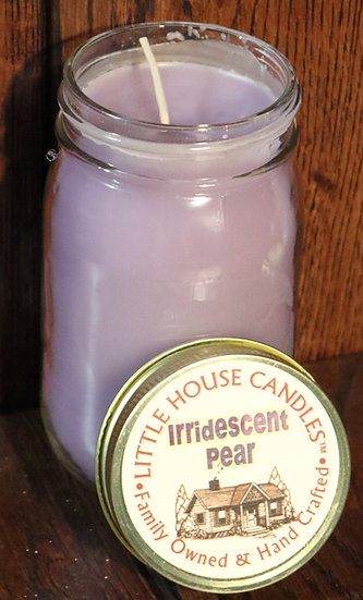 Iridescent Pear -  13 Oz. Pint Mason Jar
