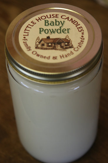 Baby Powder - 27 Oz. Heavily Scented Little House Candle Quart Mason