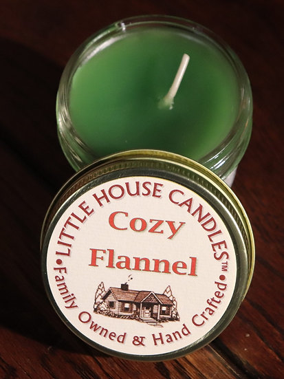 Cozy Flannel - 3 Oz. Small Quilted Jelly Jar