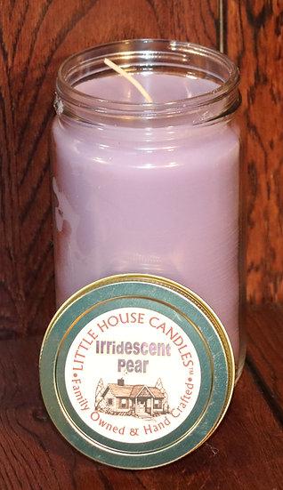 Iridescent Pear -  27 Oz. Quart Mason Jar