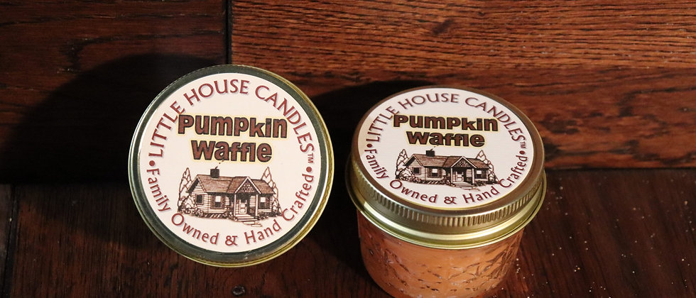 Pumpkin Waffle -  Little House Candles - 3 oz. Jelly Jar