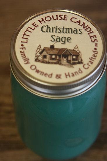 Christmas Sage - 14 Oz. Pint Mason Jar