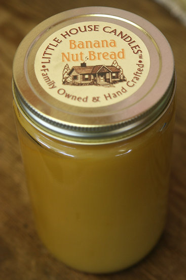 Banana Nut Bread 27 Oz. Little House Quart Mason Jar