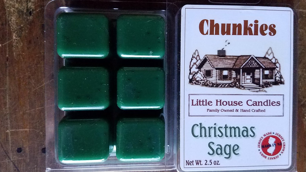 Christmas Sage 2.5 Oz. Chunkie Wax Melt