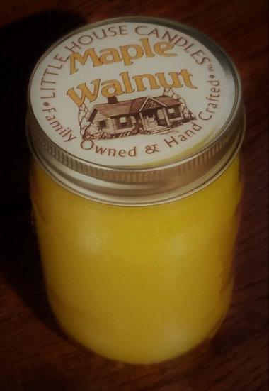 Maple Walnut - 14 Oz. Pint Mason Candle
