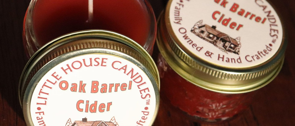 Oak Barrell Cider  - 3 Oz. Small Quilted Jelly Jar
