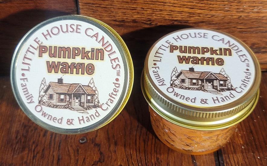 Pumpkin Waffle -  Little House Candles - 3 oz. Jelly Jar