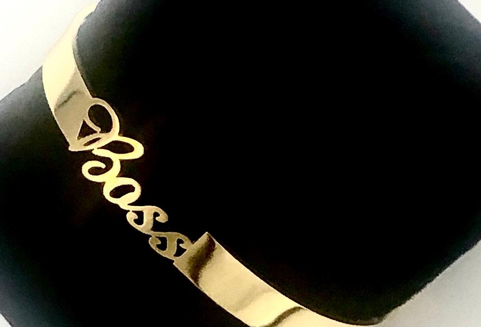 Gold Bangled Boss Bracelet