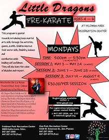 Little Dragons Martial Arts flyer 2021-U