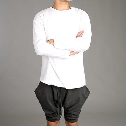 Mens Shorts - Drop Crotch Short Pants - Minimalist shorts - Dark Grey Pants