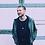 Thumbnail: Mens elegant minimalist draped cowl neck fashion shirt