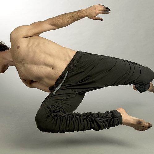Drop Crotch Pants - Extra Long Mens Pants - Mens Grey Pants - Futuristic